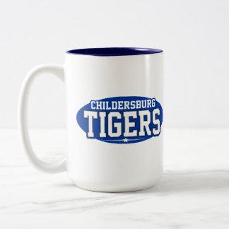 High School secundaria de Childersburg; Tigres Taza Dos Tonos
