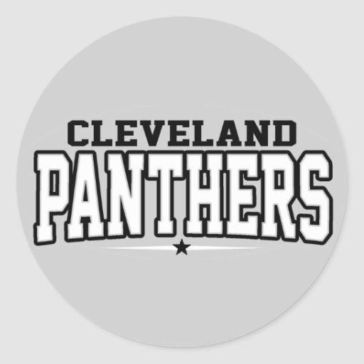 High School secundaria de Cleveland; Panteras Pegatina Redonda