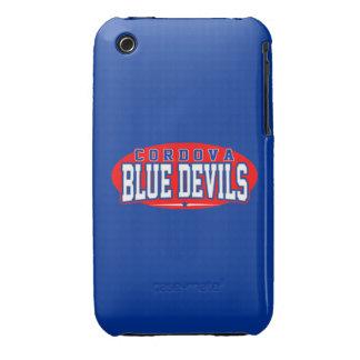 High School secundaria de Cordova; Diablos azules iPhone 3 Cárcasa