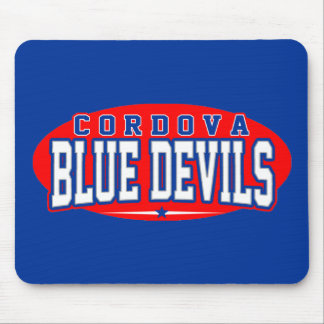 High School secundaria de Cordova; Diablos azules Alfombrilla De Ratones