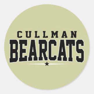 High School secundaria de Cullman; Binturong Pegatinas Redondas