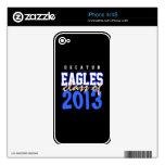 High School secundaria de Decatur, Eagles, mayor iPhone 4 Calcomanía