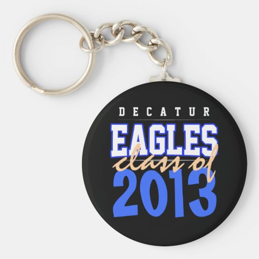 High School secundaria de Decatur, Eagles, mayor Llavero Personalizado