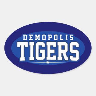 High School secundaria de Demopolis; Tigres Calcomania De Ovaladas