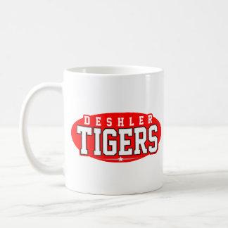 High School secundaria de Deshler; Tigres Taza Básica Blanca