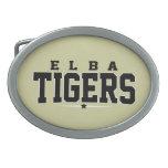 High School secundaria de Elba; Tigres Hebillas De Cinturon