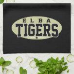 High School secundaria de Elba; Tigres Toallas De Mano