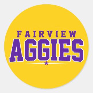 High School secundaria de Fairview; Aggies Pegatinas Redondas