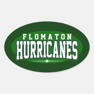 High School secundaria de Flomaton; Huracanes Pegatina Ovalada