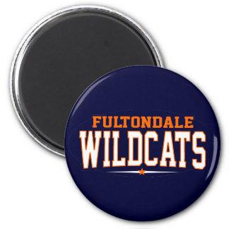 High School secundaria de Fultondale; Gatos montes Imán Redondo 5 Cm