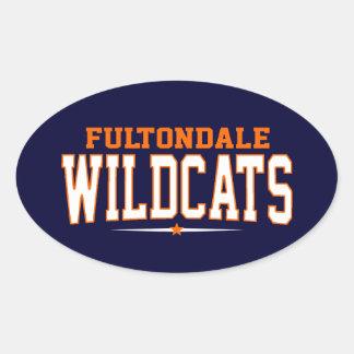High School secundaria de Fultondale; Gatos Pegatina Óval