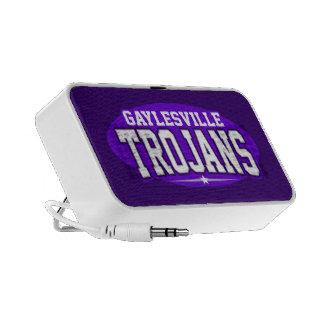 High School secundaria de Gaylesville; Trojan Portátil Altavoz