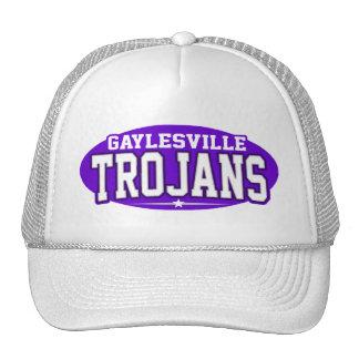 High School secundaria de Gaylesville; Trojan Gorros Bordados