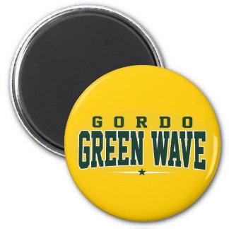 High School secundaria de Gordo; Onda verde Imán Redondo 5 Cm