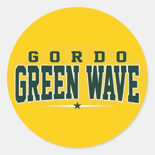 High School secundaria de Gordo; Onda verde Etiquetas Redondas