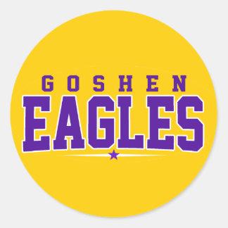 High School secundaria de Goshen; Eagles Pegatina Redonda