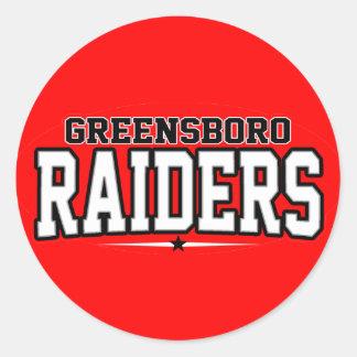 High School secundaria de Greensboro; Asaltantes Etiquetas Redondas