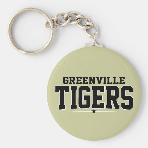 High School secundaria de Greenville; Tigres Llavero Personalizado