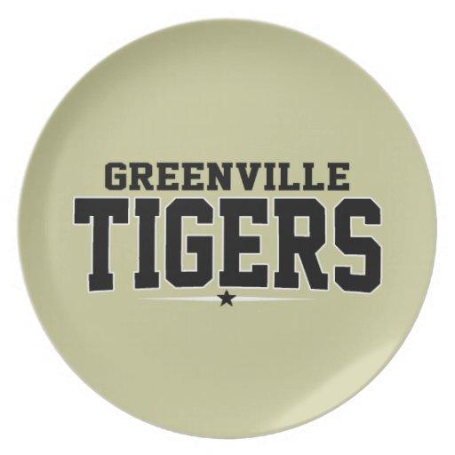 High School secundaria de Greenville; Tigres Platos