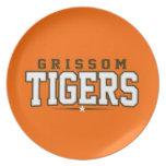 High School secundaria de Grissom; Tigres Platos De Comidas