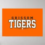 High School secundaria de Grissom; Tigres Posters