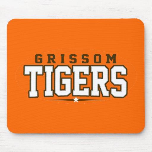 High School secundaria de Grissom; Tigres Alfombrillas De Ratones
