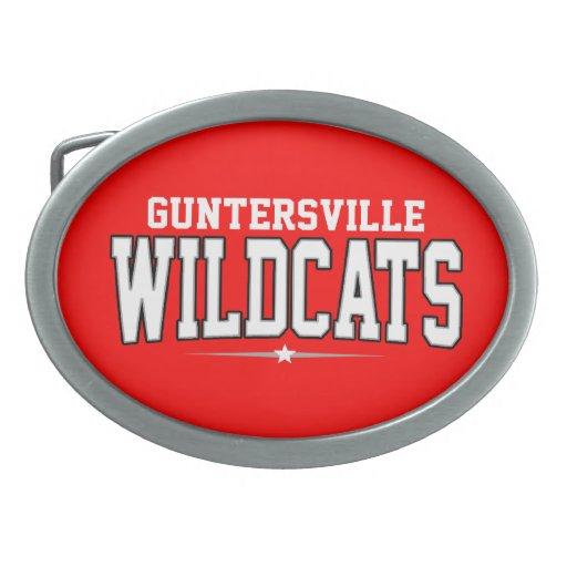 High School secundaria de Guntersville; Gatos mont Hebilla Cinturón Oval