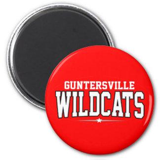 High School secundaria de Guntersville; Gatos mont Imán Redondo 5 Cm
