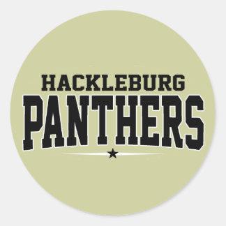 High School secundaria de Hackleburg; Panteras Pegatina Redonda