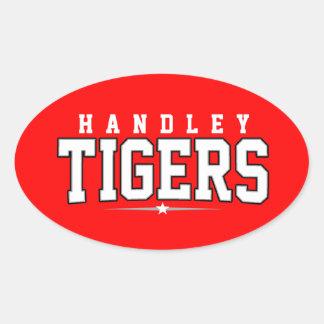 High School secundaria de Handley; Tigres Pegatinas Ovaladas
