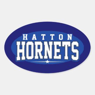High School secundaria de Hatton; Avispones Calcomania Oval
