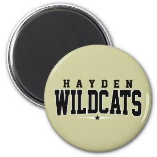 High School secundaria de Hayden; Gatos monteses Imán Redondo 5 Cm