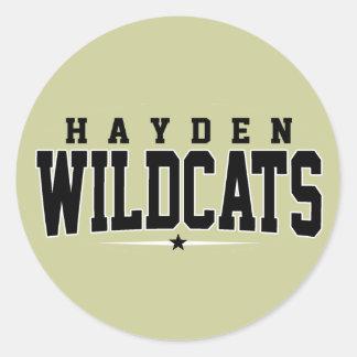 High School secundaria de Hayden; Gatos monteses Pegatinas Redondas