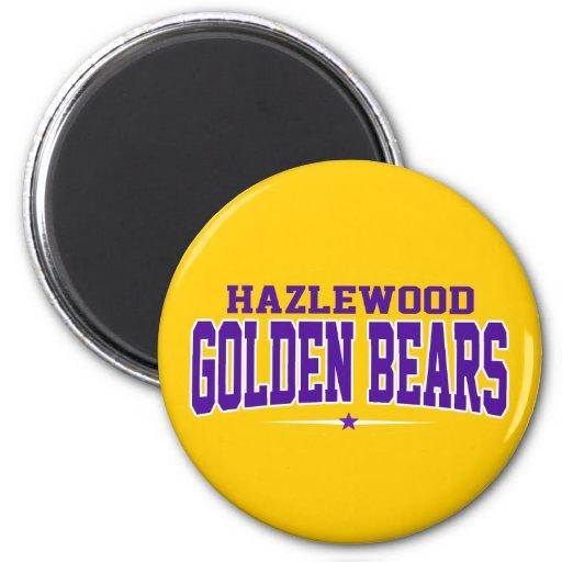 High School secundaria de Hazlewood; Osos de oro Iman Para Frigorífico