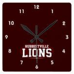 High School secundaria de Hubbertville; Leones Reloj De Pared