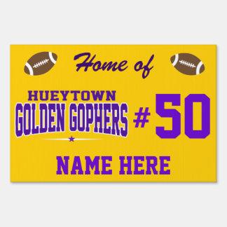 High School secundaria de Hueytown; Gphers de oro Letreros