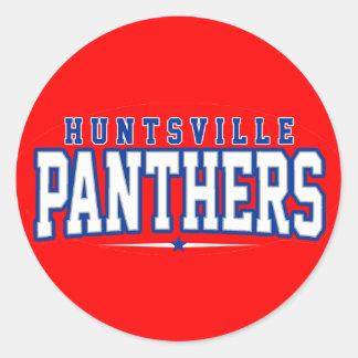 High School secundaria de Huntsville; Panteras Pegatinas Redondas