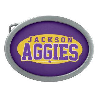 High School secundaria de Jackson; Aggies Hebillas De Cinturon Ovales