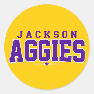 High School secundaria de Jackson; Aggies Etiquetas Redondas