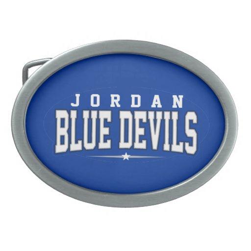 High School secundaria de Jordania; Diablos azules Hebilla De Cinturon Oval