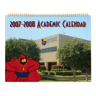 High School secundaria de Juan Pablo II Calendarios