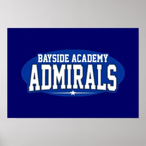 High School secundaria de la academia de Bayside;  Poster