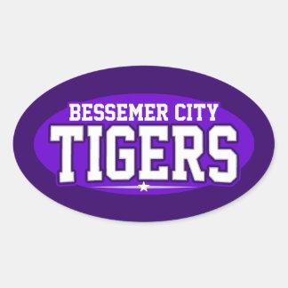 High School secundaria de la ciudad de Bessemer; Pegatinas De Óval Personalizadas