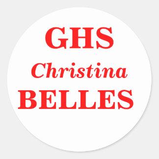 High School secundaria de la vid, GHS, BELLEZAS Pegatina Redonda