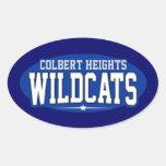 High School secundaria de las alturas de Colbert; Calcomanía Oval