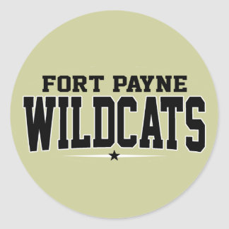 High School secundaria de Payne del fuerte; Gatos Pegatina Redonda