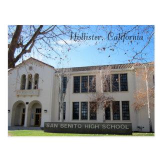 High School secundaria de San Benito Tarjeta Postal
