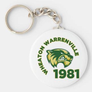 High School secundaria de Wheaton Warrenville Llavero Personalizado
