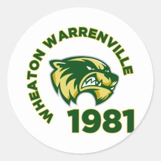High School secundaria de Wheaton Warrenville Pegatina Redonda