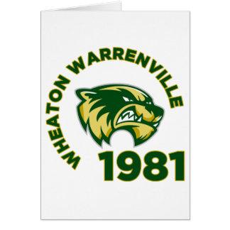 High School secundaria de Wheaton Warrenville Tarjeton